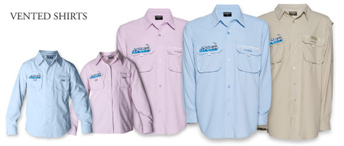 Shimano Tackle World Vented Shirt Blue Boys