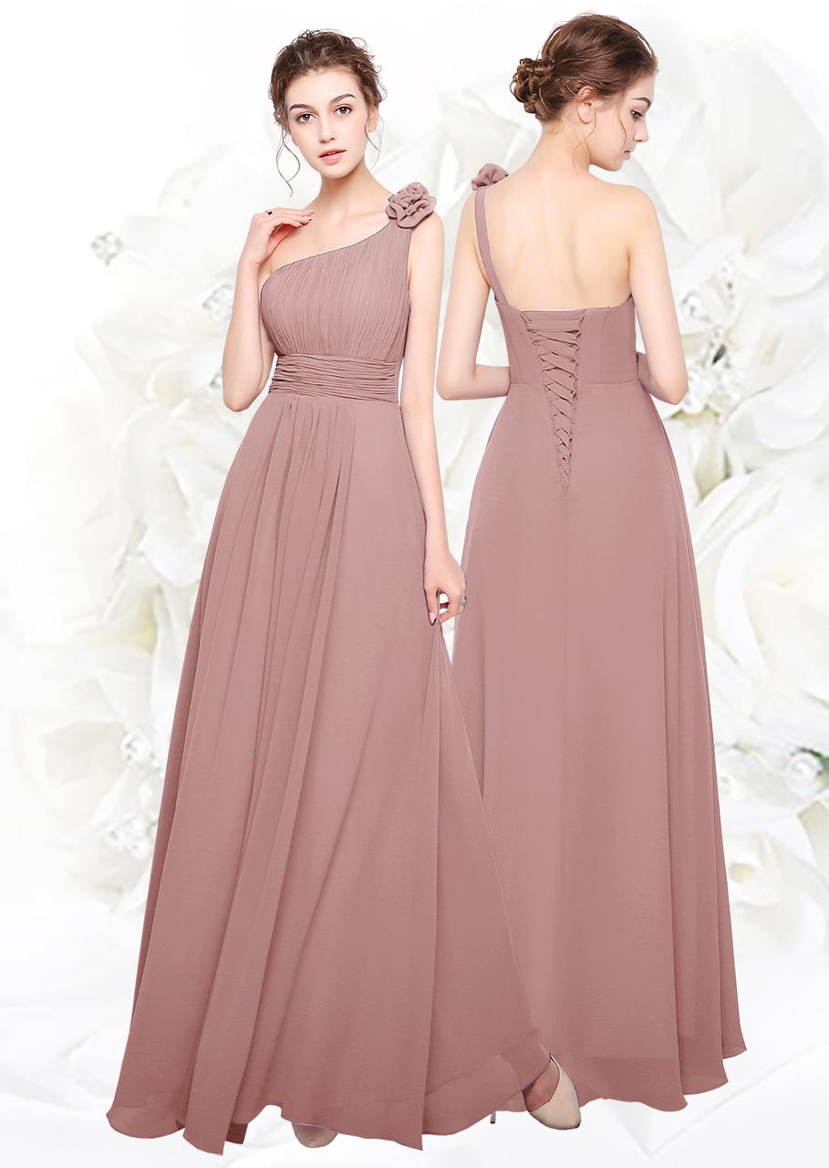 7c449cc5d17 New Lace up chiffon Floor length Bridesmaids Evening wedding party dress -  Angel Fashion ltd