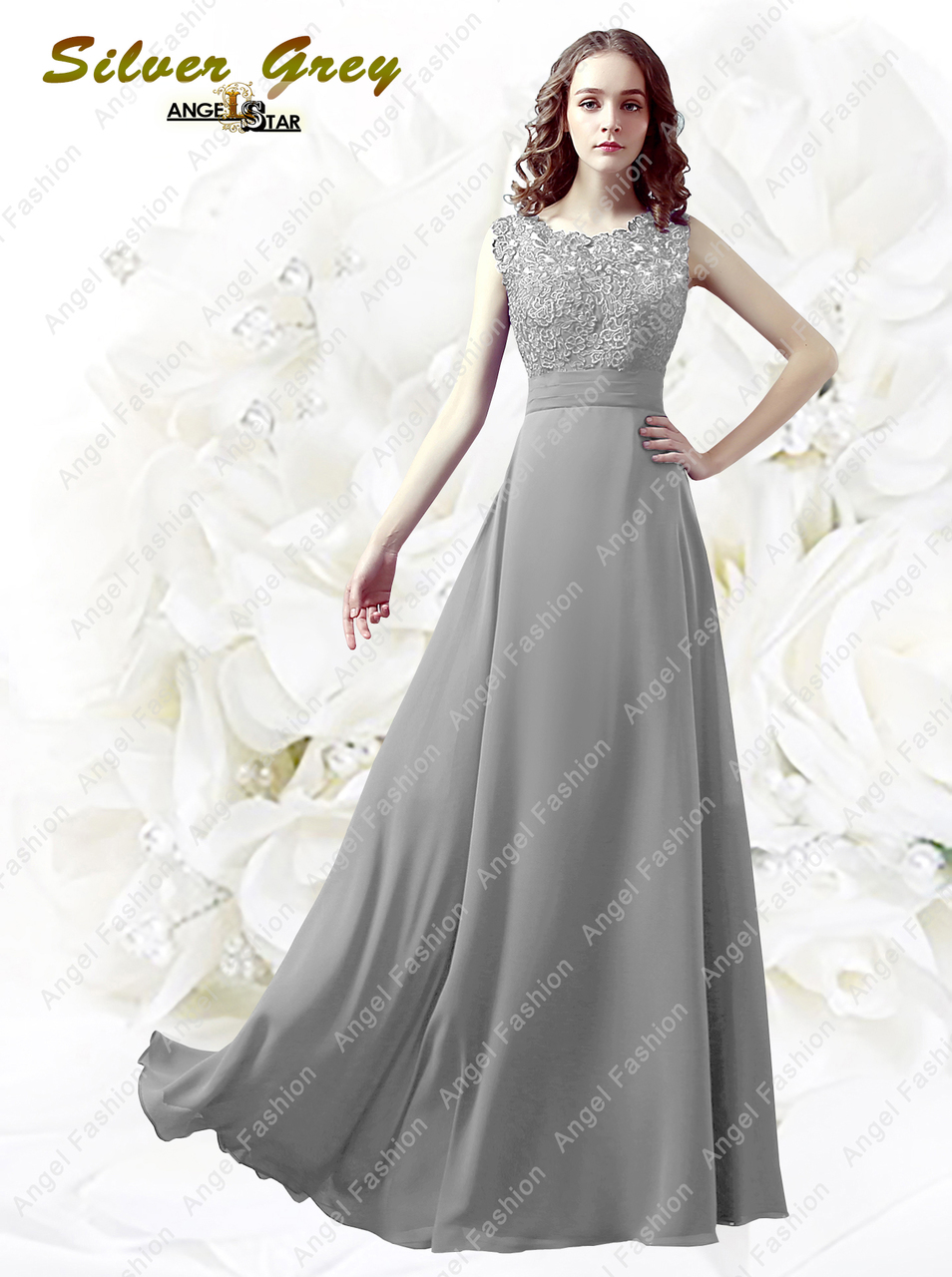6793b63938b Floor-length Lace back   Georgette Bridesmaid Dress Petite Sheath Column  Bateau - Angel Fashion ltd