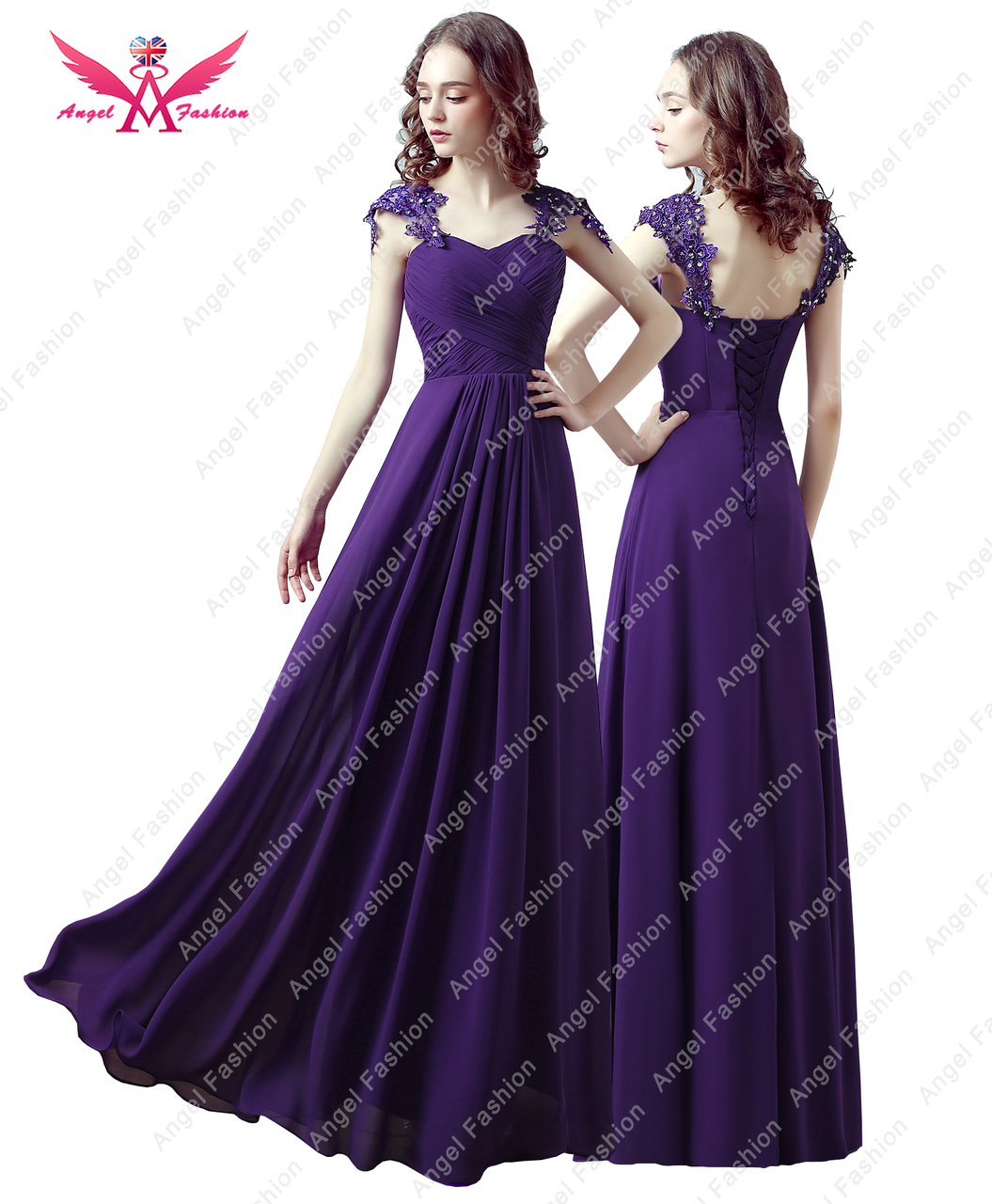 97b51a60c4a Long Maxi Evening Bridesmaid Formal Party Prom Dress Gown - Angel ...