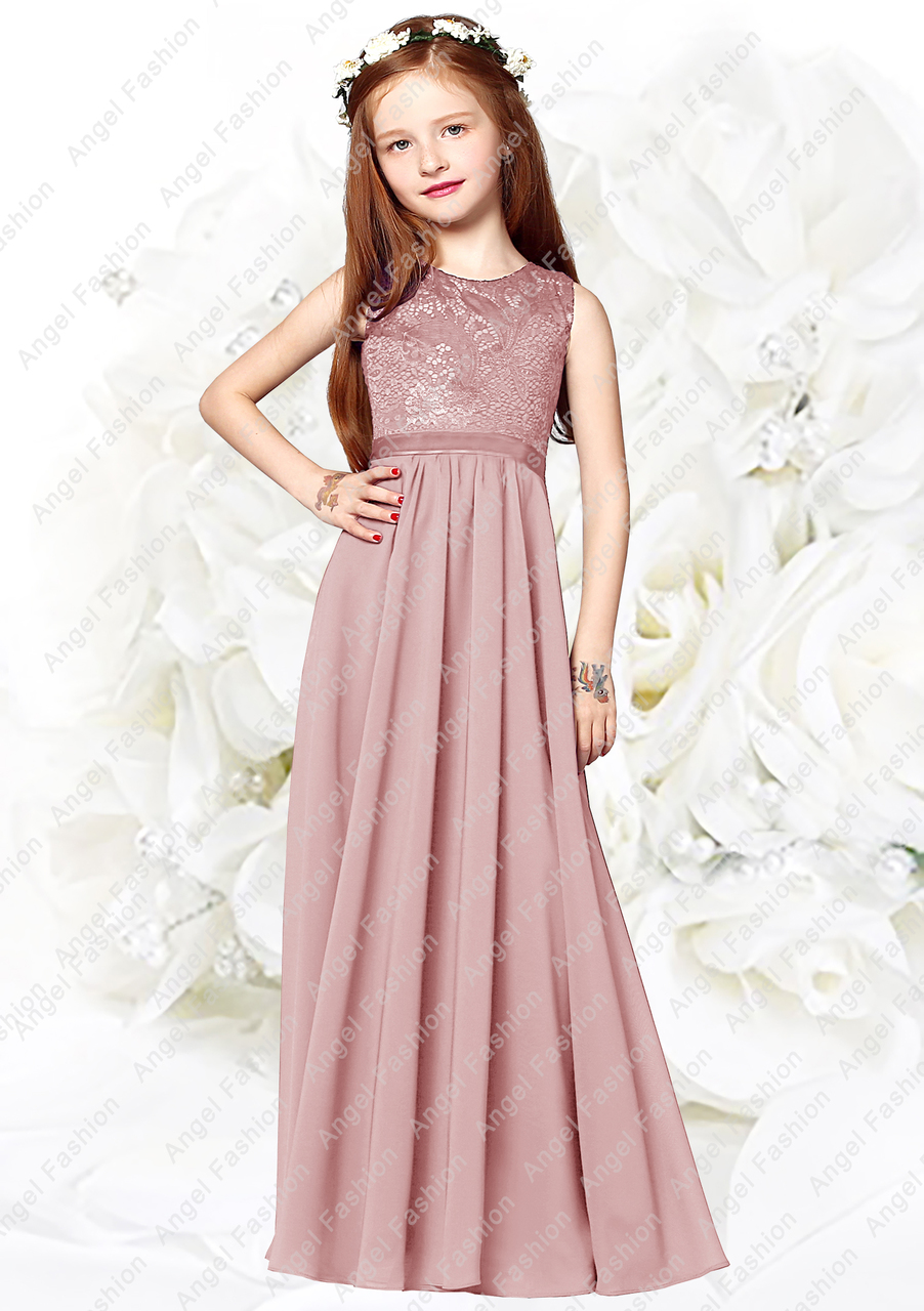 Chiffon Kid Princess Party Dress Flower Girl Wedding Jr.Bridesmaid Formal Dress