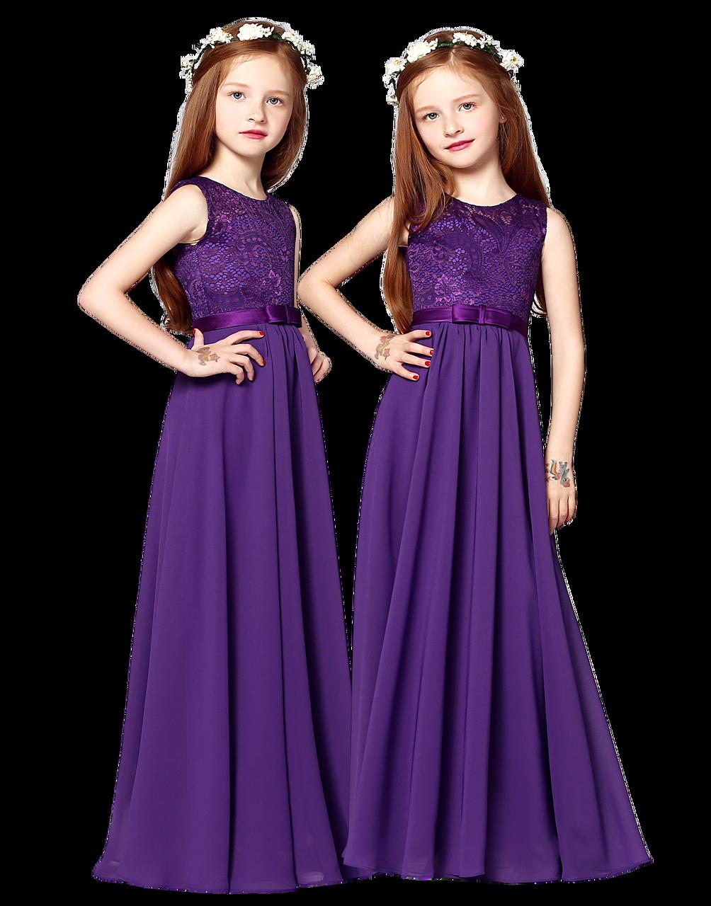 Charming Chiffon Princess Flowergirl Party Junior Wedding Bridesmaid Dress 6-14