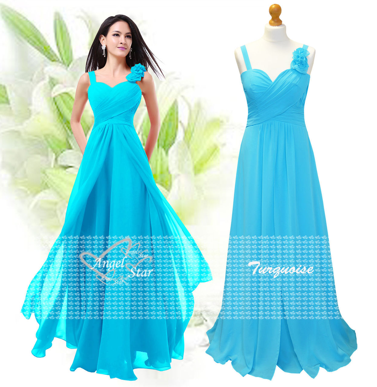 ba157ab2e2e New Formal Long Evening Ball Gown Party Prom Bridesmaid Dress Size 6 ...