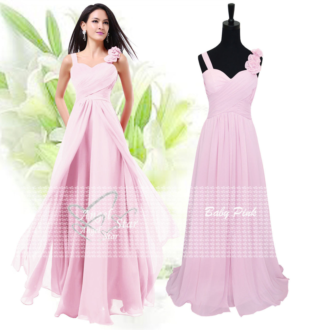 00bd286efecc New Formal Long Evening Ball Gown Party Prom Bridesmaid Dress Size 6 ...
