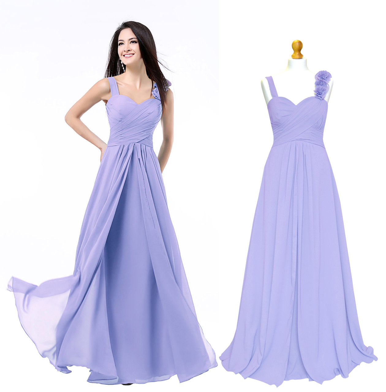9f1fcbaf00902 ... Lilac Dusky Rose Grey Coral Teal New Formal Long Evening Ball Gown  Party Prom Bridesmaid Dress Size 6 - 24