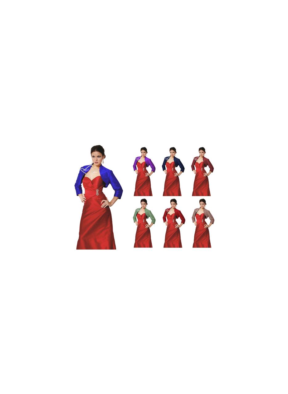 Soft Satin Bolero/Shrug/Jacket/Stole 3/4 Length Sleeves