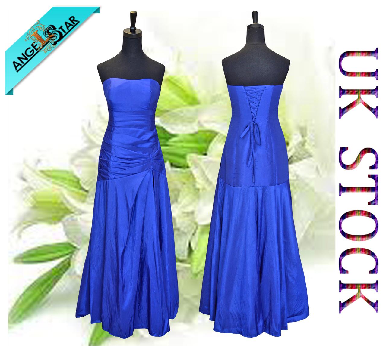 Chaming Taffeta Royal Blue Floor Length Bridesmaid/Evening/Wedding Party Dress