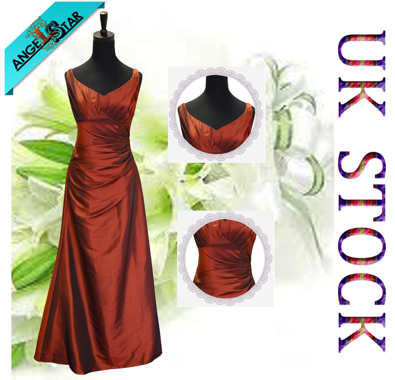 Taffeta Floor Length Bridesmaid/Evening/Wedding Party Dress