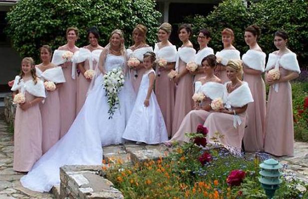 Faux Fur Wrap Bridal Bridesmaids Wedding Angel Fashion Ltd