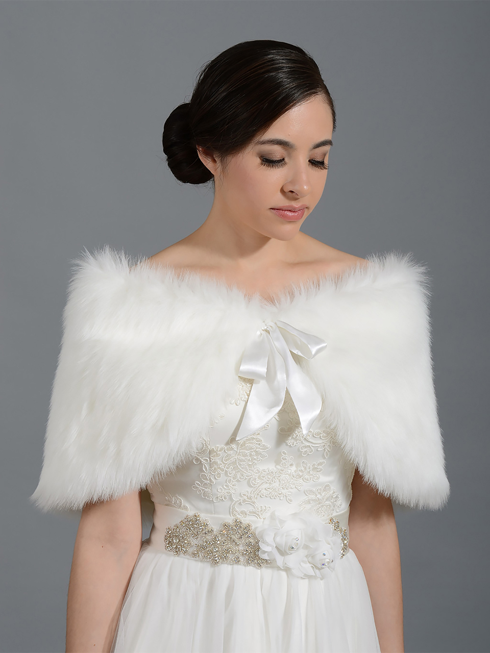 405499b85f5 Faux Fur Wrap Bridal Bridesmaids Wedding Faux Fur Wrap Bridal Bridesmaids  Wedding ...