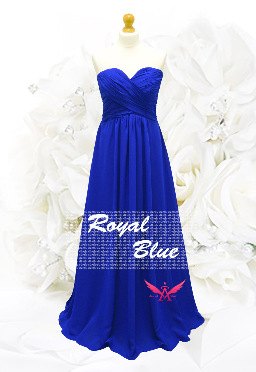 e1db6762e2b5 A-Line/Princess Full-Length Chiffon Evening Prom Bridesmaid Dress ...