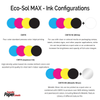 Eco-Sol MAX Ink Cartridge Configurations