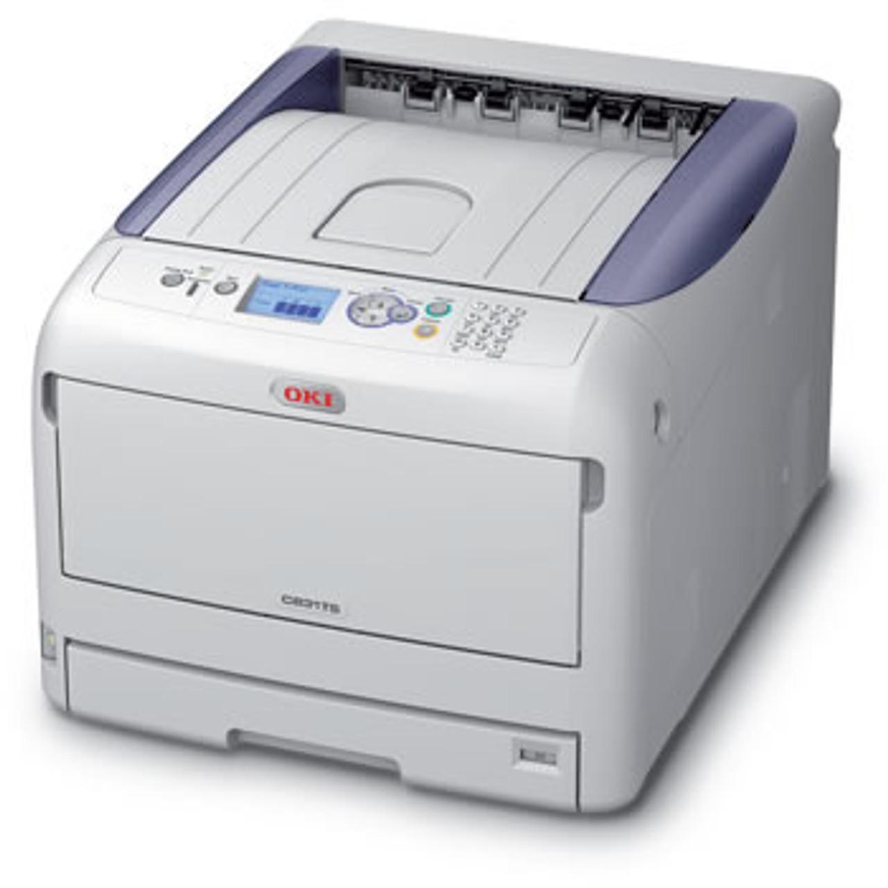 OKI C831TS CMYK Laser Transfer Printer + Laser Paper Samples