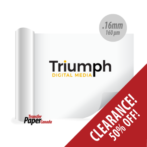 White Print and Cut PVC - for apparel (.16mm). CLEARANCE