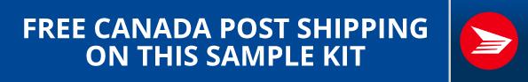 Free Canada Post on Sample Kit