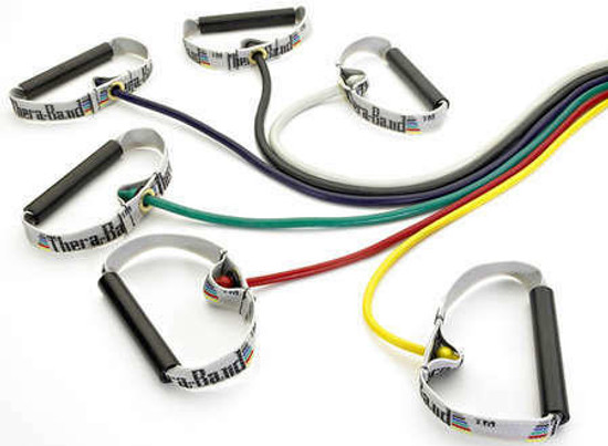 Thera-Band TheraBand Resistance Tubing with Soft Grip Handles