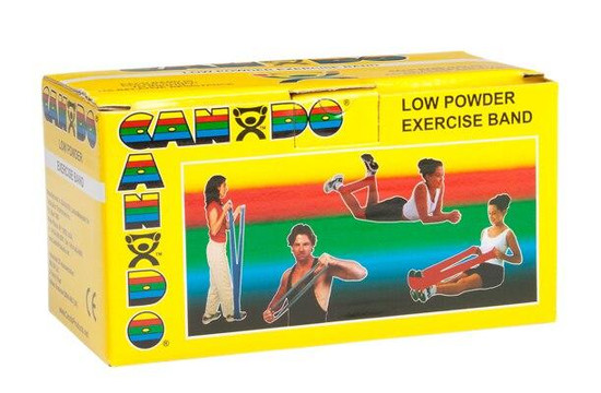 Cando Low Powder Exercise Band 6 Yard Roll