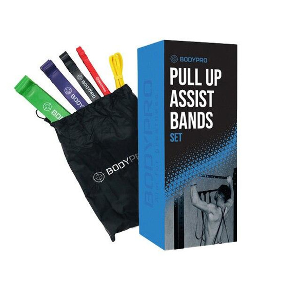 Bodypro BodyPro Pull Up Bands 5 Piece Set