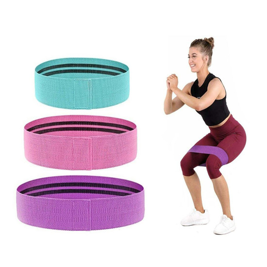 Bodypro Loop Fabric Exercise Bands 3 Pack