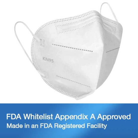SourceMed KN95 Face Mask FDA Approved 10 Pack
