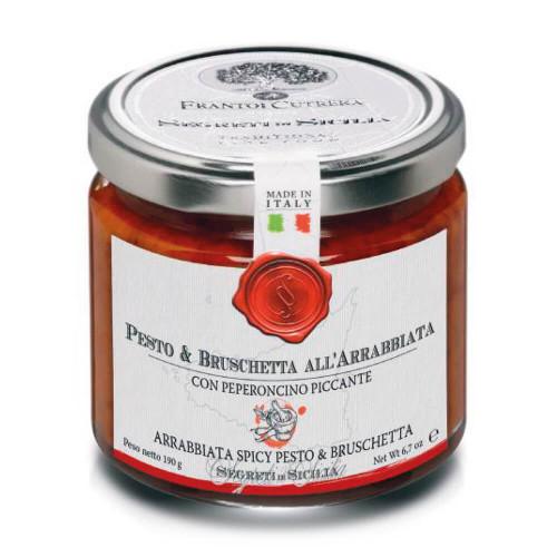 SPICY PESTO AND BRUSCHETTA