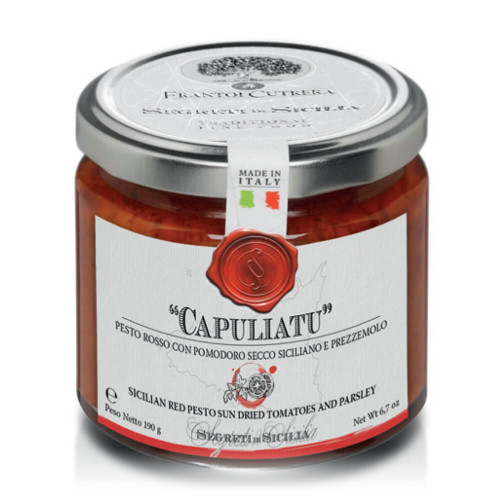 "JAR OF ""CAPULIATO"" - PESTO WITH DRIED TOMATO AND PARSLEY"
