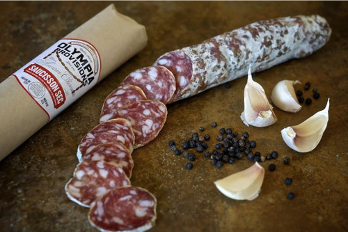 SAUCISSON SEC FRENCH INSPIRED SALAMI WITH GARLIC AND BLACK PEPPER