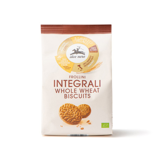 Organic wholemeal biscuits Alce Nero 250g