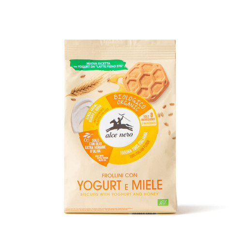 Organic yogurt & honey biscuits Alce Nero 250g