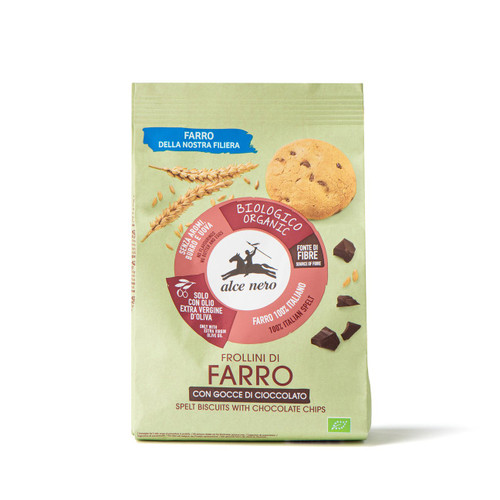 Organic cocoa biscuits w.chocolate drops Alce Nero 250g