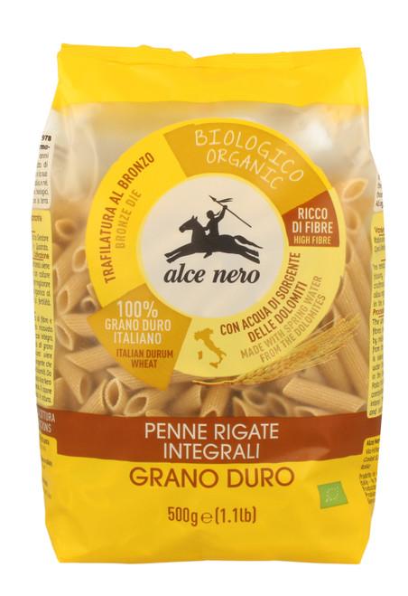 Organic whole durum wheat Penne Rigate Alce Nero 500g