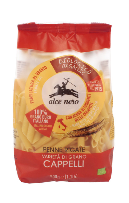 Organic penne rigate Senatore Cappelli Alce Nero 500g