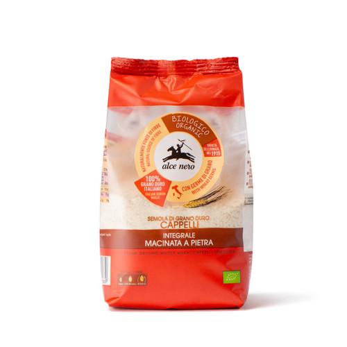 Organic stone ground whole durum wheat Senatore Cappelli flour 500g