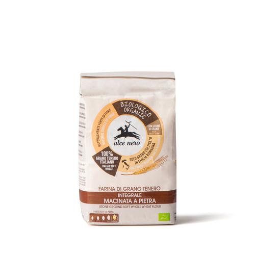 Organic stone ground soft whole wheat flour 1000g