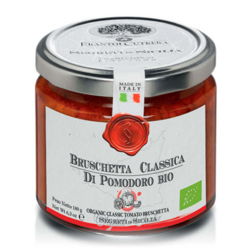 JAR OF ORGANIC CLASSIC BRUSCHETTA WITH TOMATO