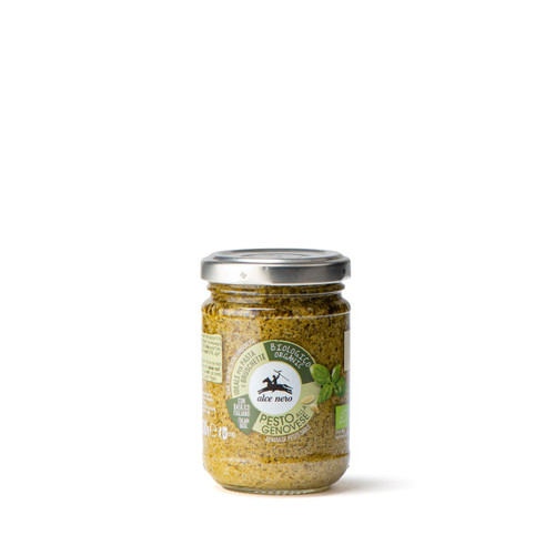 Organic Pesto Genovese basil sauce Alce Nero 130g