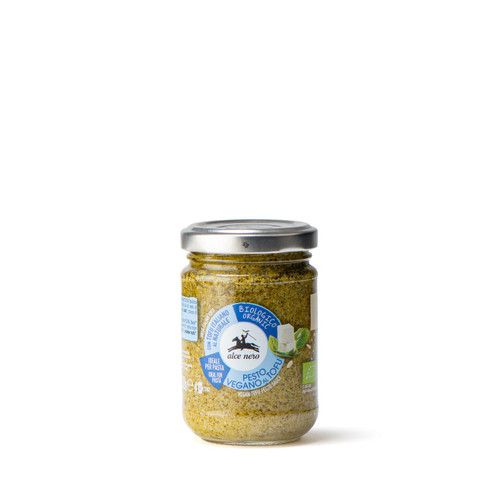 Organic vegan tofu pesto sauce with extra virgin olive oil 130g