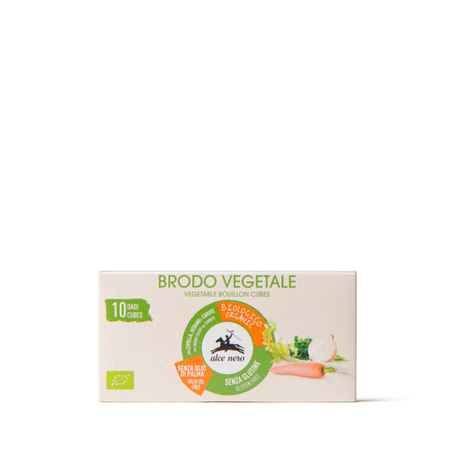 Organic vegetable bouillon cube without palm oil Alce Nero 100g