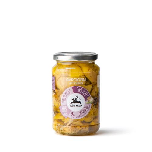 Organic artichokes in olive oil 330g