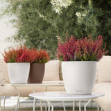 Classico Color Round Planter on Patio Table