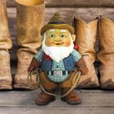 Country Cowboy Klaus Garden Gnome Statue in the Garden