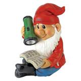 Flashlight Freddie Solar Garden Gnome Statue