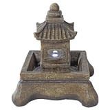 Mokoshi Pagoda Illuminated Garden Fountain