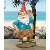 Hawaiian Hank Grass Skirt Gnome Statue in the Garden