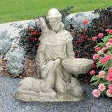 St. Francis Feeds the Animals Garden Statue Outdoors
