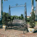 Rockaway Garden Bench Swing in the Garden