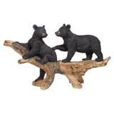 Mischievous Black Bear Cubs Garden Statue