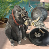 Bad Intentions Giant Warthog Garden Statue on the Patio