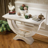 Moderno Arch of Stone Plant Stand With Decor on Top