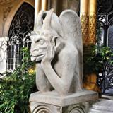Spitting Gargoyle of Notre Dame Statue in the Garden